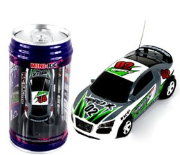 Wholesale 2016 new updated CH RC car New Coke Can Mini speed RC Radio Remote Control Micro Racing cars Toy Gifts Promotion Green