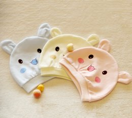 Wholesale 100 Cotton Baby Hat NewBorn Hat Infant Bernat Birth Hat For Little Baby s Gift MOQ10PCS