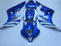 Free shipping fairing kit for HONDA Injection molding CBR600RR 2007 2008 bodykits CBR 600RR F5 07 08 blue white fairings KQ7