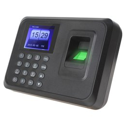 Wholesale A6 quot TFT Biometric Fingerprint Time Clock Recorder Attendance Employee Payroll Recorder CAS_813