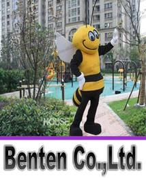 Wholesale EMS Mr Health Bee mascot costumes performance props apparel halloween birthday Fancy dress LLFA4418F
