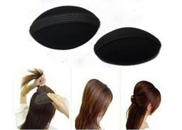 Wholesale Black color BUMP IT UP Volume Velcro Hair Inserts With Clip Back Do Beehive Hair Styler
