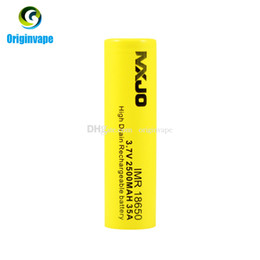 Original 18650 Battery 2500mah 35A Discharge High Drain Rechargeable Lithium 18650 Batteries Using for VW VV BOX MOD Fedex Free Shipping