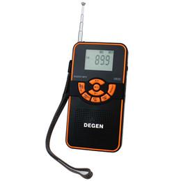 Wholesale DEGEN DE22 AM FM Stereo Radio Shortwave Digital Display Card MP3 Family Radio Y4106A