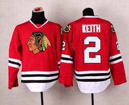 2017 maillots de sport Blackhawks # 2 Duncan Keith Hockey Jerseys Cheap Hockey Porter hauts Uniformes Qualité Sport Jersey hommes avec 2015 Coupe Stanley Champion Jersey bon marché maillots de sport