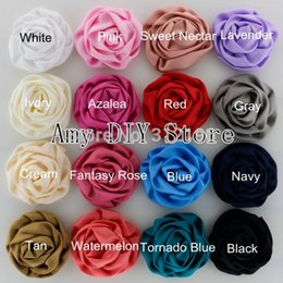 Wholesale DIY Beauty Rose Puff Flowers Baby Girls Fashion Hair Accessories Children Boutique Hair Flowers