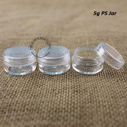 Wholesale Hot g Plastic Jar With Lid Empty Cosmetic Jars Clear Sample Containers Mini Cream Jars Makeup Packaging