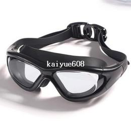 Free shipping 915b big box swimming goggles waterproof anti-fog anti-uv hd submersible swimming glasses