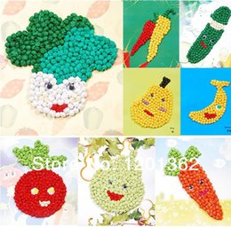 Wholesale Deal New Art Tissue Paper Creations Fruit Vegetable DIY Craft Rubbing Paper Sticker Drawing Kids Educational Activity