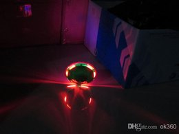 Wholesale Christmas Promotion LED Flashing Light UFO Spinning SpinTop Beyblade Gangnam Style Music Laser rotating TOP Wind Up Kids Toyf for Party
