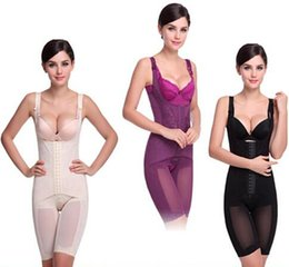 Wholesale Women Seamless Full Body Shaper Waist Underbust Cincher Suit Control Firm Tummy Beige Black Purple