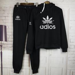 Wholesale 2016 New Arrival Women active set tracksuits Hoodies Sweatshirt Pants Running Sports set long sleeves and pants