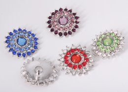 18mm Noosa Metal Ginger Snap Button Charm Rhinestone Crystal Styles Button Snaps Jewelry NOOSA chunk Clasps