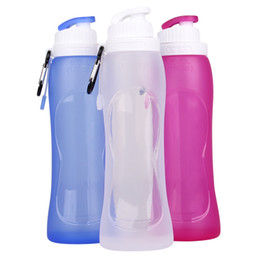 Wholesale bpa free Safe best nalgene OTF foldable water bottle reusable personalised foldable drink bottles for kids