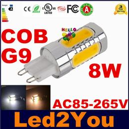 Promotion ampoule g9 conduit Haute puissance 8W G9 LED spots LED COB Les Pièces de bulbes de maïs lumières pour l'éclairage intérieur AC 85-265V
