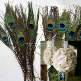 Wholesale 100pcs Lot Natural Peacock Feather 10-12 Inchs Plume Centerpiece Wedding Party Table Decoration Wedding Decorations DIY Feathers