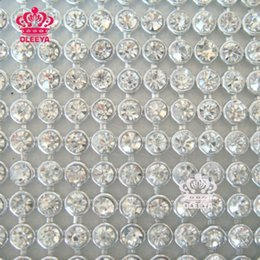 Wholesale SS10 mm x120mm CrystalClear Stones Silver Plated Aluminium base Pasted A Hot Fix Rhinestone Mesh Trimming FreeShipping Y2368