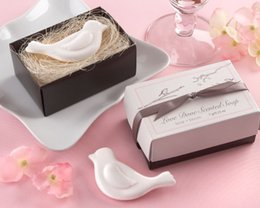 Wholesale In Stock Lovebirds Soap Wedding favors Scented Soap Baby Showers Soaps Guest Gifts Wedding Supplier Creative Gift Box