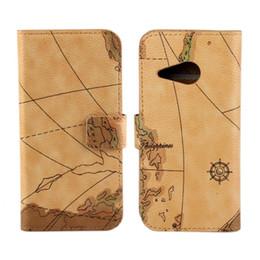 Haute Qualité gros cuir Carte Couverture Wallet Case LIVRAISON HTC One Mini 2 M8 Mini Support Téléphone Case gratuit à partir de cartes haute fournisseurs