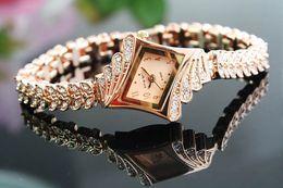 Wholesale Rose Gold Fashion design top grade Lady Business Diamond bracelet table Lady s watch Elegant fashion and beautiful
