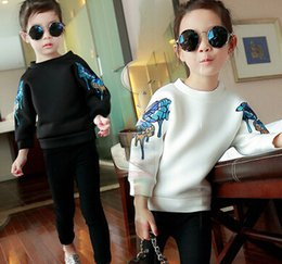 Wholesale 2015 Autumn New Arrival Children Sweater Long SLeeve Butterfly Girls Shirt Korean Style Air Cotton Kids Clothes Fit Age SS169