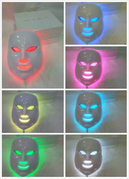Wholesale 7 colors photon PDT led skin care facial mask blue green red light therapy beauty devices DHL