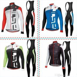 Wholesale Latest Team Cycling Jersey Set Long Bike Jerseys High Quality Castelli Winter Cycling Jersey Autumn Bike Gears Jersey Long Pants