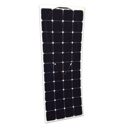 Wholesale 135W Sun Power cell semi flexible solar panel for yacht boat