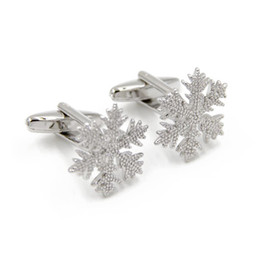 Free Shipping Very Nice Christmas Gifts Series- Snow Cufflink- Silver