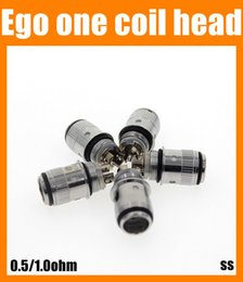 Coils ego one coil head fit eGo ONE 1.8ml 2.5ml Atomizers 0.5ohm 1.0ohm fit all variable batteries ss FJ218