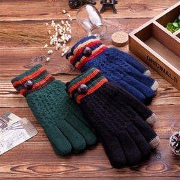 Wholesale-New Fashion Women Men Knitting Gloves Full Finger Chunky Warm Winter Gloves Wool Crochet Hand Warmer Knit Gloves for Winter