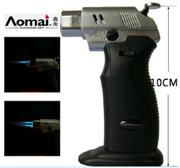Wholesale New arrives Windproof Lighter Refill Butane Torch Lighter Tool Spray Gun Jet Flame with retail packaging