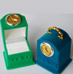 New Velvet Ring Box ring box, clock shape Jewelry Display Gift Case,sold per bag of 20 pcs
