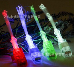 Bright LED Finger Ring Light Dance Disco Party Glow Rave Fibe Christmas Glow Toys