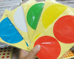 free shipping stock 100mm 300pcs lot round color blank paper label sticker label