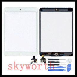 Wholesale for iPad ipad mini Touch Screen Glass Digitizer Assembly with Home Button M Adhesive Glue Sticker Repair Tools Replacement Part
