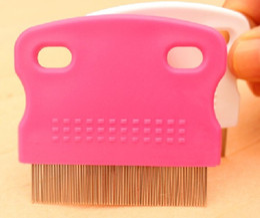 Wholesale 500pcs Pet cleaning supplies Pet fleas comb Dog cat fine toothed comb cm g