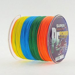 Wholesale 500M PE BRAID FISHING LINE Specialised for salt water freshwater professional fishing tackle multi colored dyneema line
