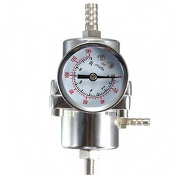 Wholesale NEW Universal Silver Adjustable Pressure Regulator With PSI Gauge steel order lt no tracking