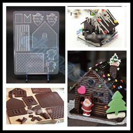 Wholesale hot Valentine DIY Christmas house chocolate mould gingerbread house mold chocolate mould sweet candy jelly mold baking mould tool