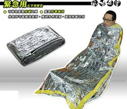Wholesale Cheap Portable Emergency foil Reusable Waterproof Rescue Space Thermal Sleeping Bag Outdoor Camping Travel Hiking