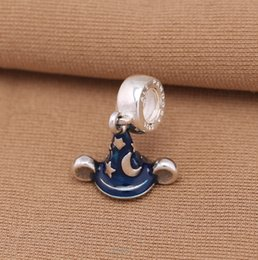 Wholesale Dangle Enamel Mickey Charms Fits Pandora Bracelets Authentic Sterling Silver Secret Star Hat Charm Diy Spring Women Jewelry