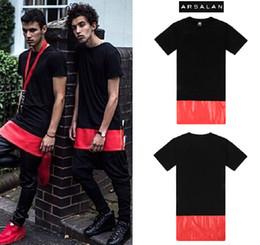 men t shirts fashion 2015 ARSALAN men clothing hip hop Side Zipper Short Sleeve Pu Faux Leather Dress T Shirt summer t shirt