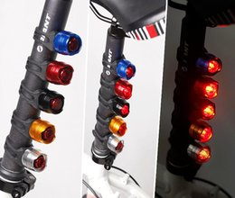 Wholesale 2015 NEW Round ruby mountain bike rear light LED tailing lamp aluminum alloy bicycle ocellus helmet lights warning light Safety Lamp