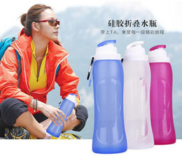 Wholesale bpa free Safe best nalgene OTF foldable water bottle reusable personalised foldable drink bottles for kids