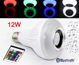 Wholesale Best E27 LED Bulbs Wireless Bluetooth W LED Speaker Bulb RGBW Music Playing Lighting With Keys IR Remote Control