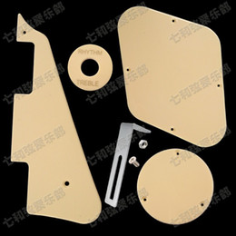Wholesale Set LP Electric Guitar Pickguard Cavity Cover Switch Cover Pickup Selector Plate Scratchplate Pickguard Support Bracket Cream