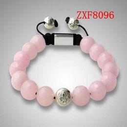 women's natural stone beaded pink colour Crystal beads hand made fashion bracelets shamballa nialaya bracelet whosale ZXF8096