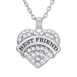 rhodium plated friendship gift best friend necklace