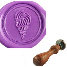Vintage Lovely Gyroscope Custom Logo Sealing Wax Seal Stamp With WOOD Handle Wedding Invitations